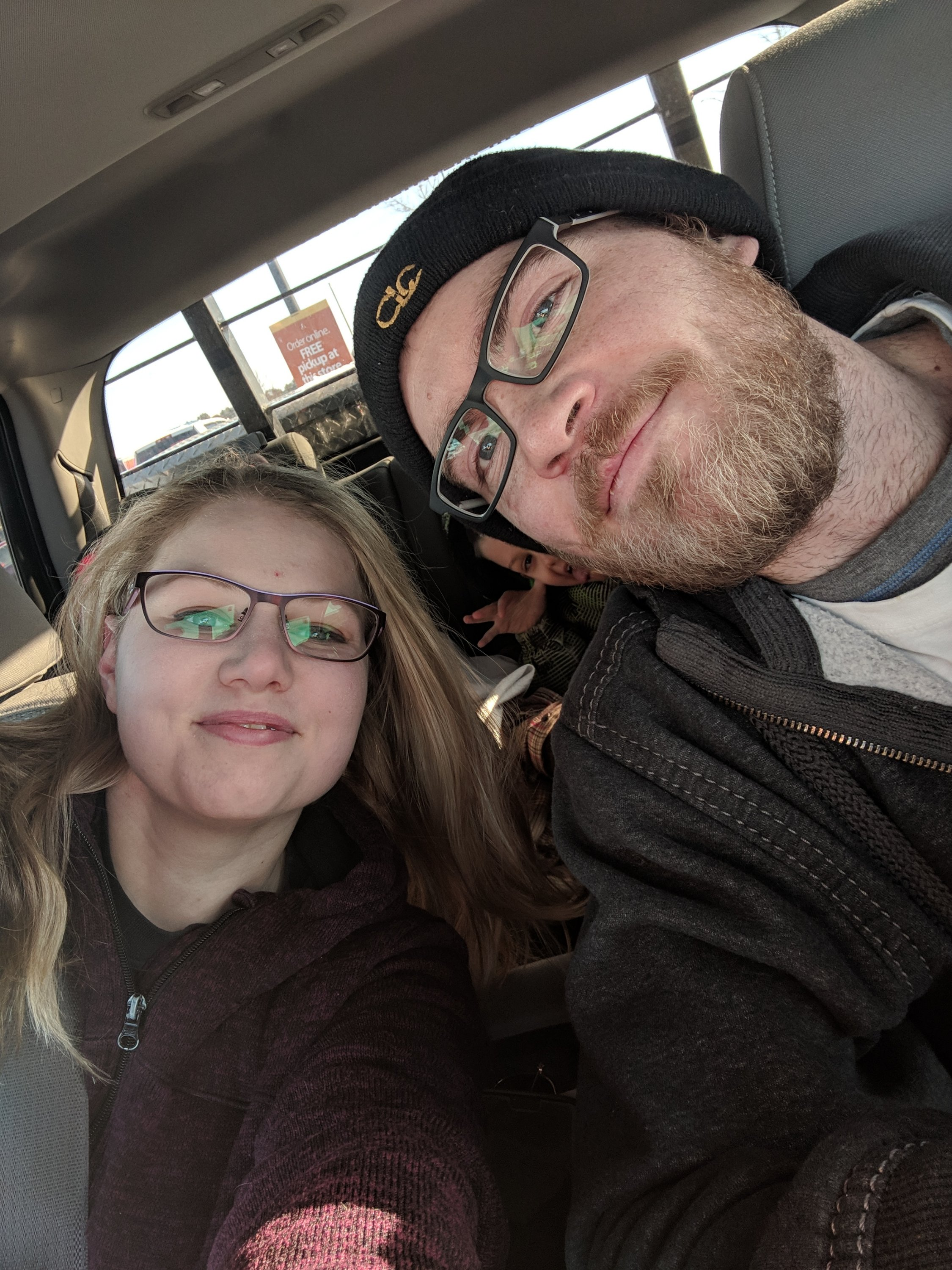 In this picture it shows my husband and I getting our first pair of glasses together. He chose mine and I chose his. In the background is our lovely eight old boy. On this day we laughed until happy tears fell from our eyes. I hope everyone enjoyed this small blog written to show that every family has it's moments.  With Love, Aleszandria